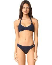 dunkelblaues Häkel Bikinioberteil von Stella McCartney