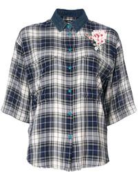 dunkelblaues Hemd mit Schottenmuster von Diesel
