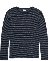 dunkelblaues horizontal gestreiftes Langarmshirt von Gant