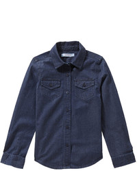 dunkelblaues Jeans Businesshemd