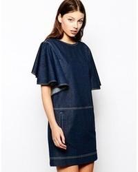 dunkelblaues Jeans Freizeitkleid von See by Chloe