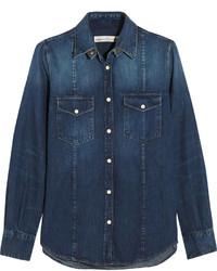 dunkelblaues Jeanshemd von Golden Goose Deluxe Brand