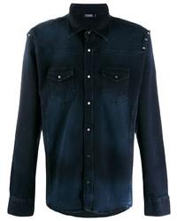 dunkelblaues Jeanshemd von Karl Lagerfeld