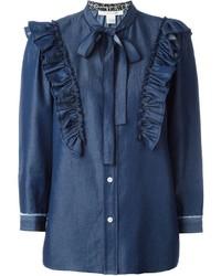 dunkelblaues Jeanshemd von Marc Jacobs