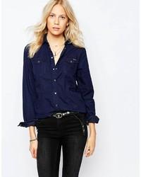 dunkelblaues Jeanshemd von Pepe Jeans