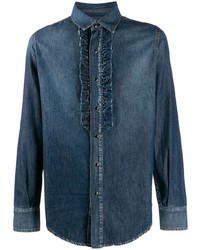 dunkelblaues Jeanshemd von Saint Laurent