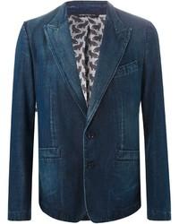 dunkelblaues Jeanssakko