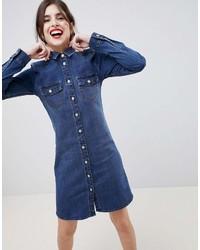 dunkelblaues Jeansshirtkleid von Esprit