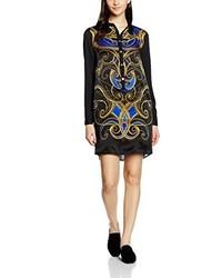 dunkelblaues Kleid von Versace