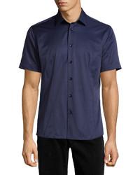dunkelblaues Kurzarmhemd