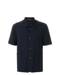 dunkelblaues Kurzarmhemd von Barena