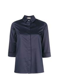 dunkelblaues Kurzarmhemd von Blanca