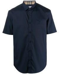 dunkelblaues Kurzarmhemd von Burberry