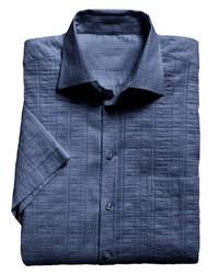 dunkelblaues Kurzarmhemd von Classic