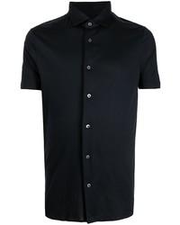 dunkelblaues Kurzarmhemd von Emporio Armani