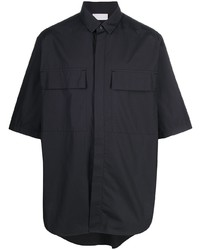 dunkelblaues Kurzarmhemd von Ermenegildo Zegna