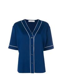 dunkelblaues Kurzarmhemd von Golden Goose Deluxe Brand