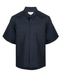 dunkelblaues Kurzarmhemd von Maison Margiela