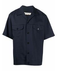 dunkelblaues Kurzarmhemd von Marni