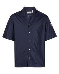 dunkelblaues Kurzarmhemd von Moncler