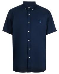 dunkelblaues Kurzarmhemd von Polo Ralph Lauren