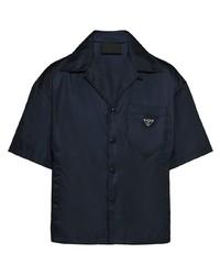 dunkelblaues Kurzarmhemd von Prada