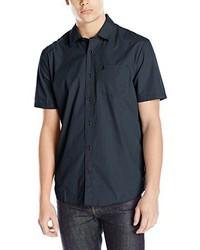 dunkelblaues Kurzarmhemd von Volcom