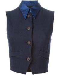 dunkelblaues kurzes Oberteil von Dolce & Gabbana