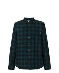 dunkelblaues Langarmhemd mit Schottenmuster von Ps By Paul Smith