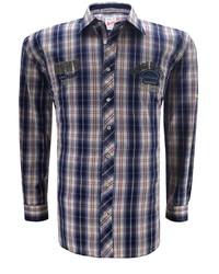 dunkelblaues Langarmhemd mit Schottenmuster von redfield