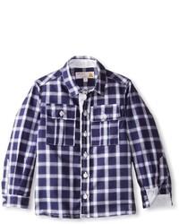 dunkelblaues Langarmhemd