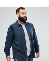 dunkelblaues Langarmhemd von ASOS DESIGN