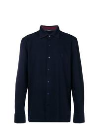 dunkelblaues Langarmhemd von Billionaire