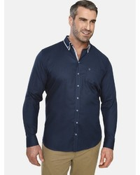 dunkelblaues Langarmhemd von Charles Colby