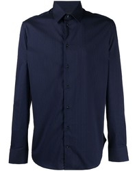 dunkelblaues Langarmhemd von Emporio Armani