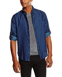 dunkelblaues Langarmhemd von Esprit