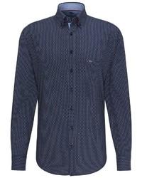 dunkelblaues Langarmhemd von Fynch Hatton
