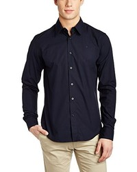 dunkelblaues Langarmhemd von G-Star RAW