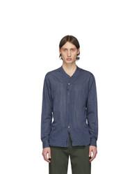 dunkelblaues Langarmhemd von Giorgio Armani