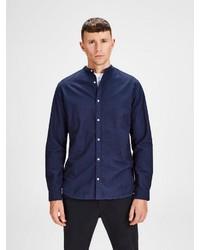 dunkelblaues Langarmhemd von Jack & Jones