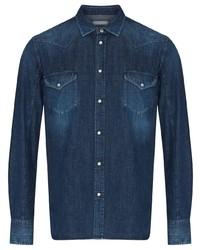 dunkelblaues Langarmhemd von Jacob Cohen