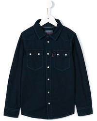 dunkelblaues Langarmhemd von Levi's