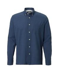 dunkelblaues Langarmhemd von Marc O'Polo