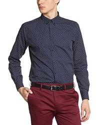 dunkelblaues Langarmhemd von Merc of London
