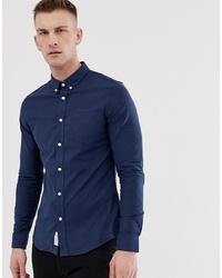 dunkelblaues Langarmhemd von Pier One