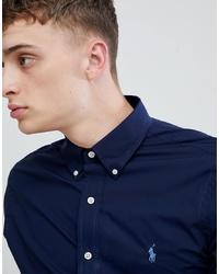 dunkelblaues Langarmhemd von Polo Ralph Lauren