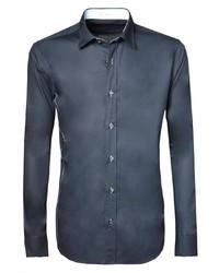 dunkelblaues Langarmhemd von Signum