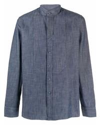 dunkelblaues Langarmhemd von Tagliatore
