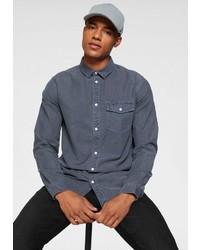 dunkelblaues Langarmhemd von Tommy Jeans