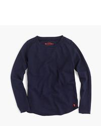 dunkelblaues Langarmshirt